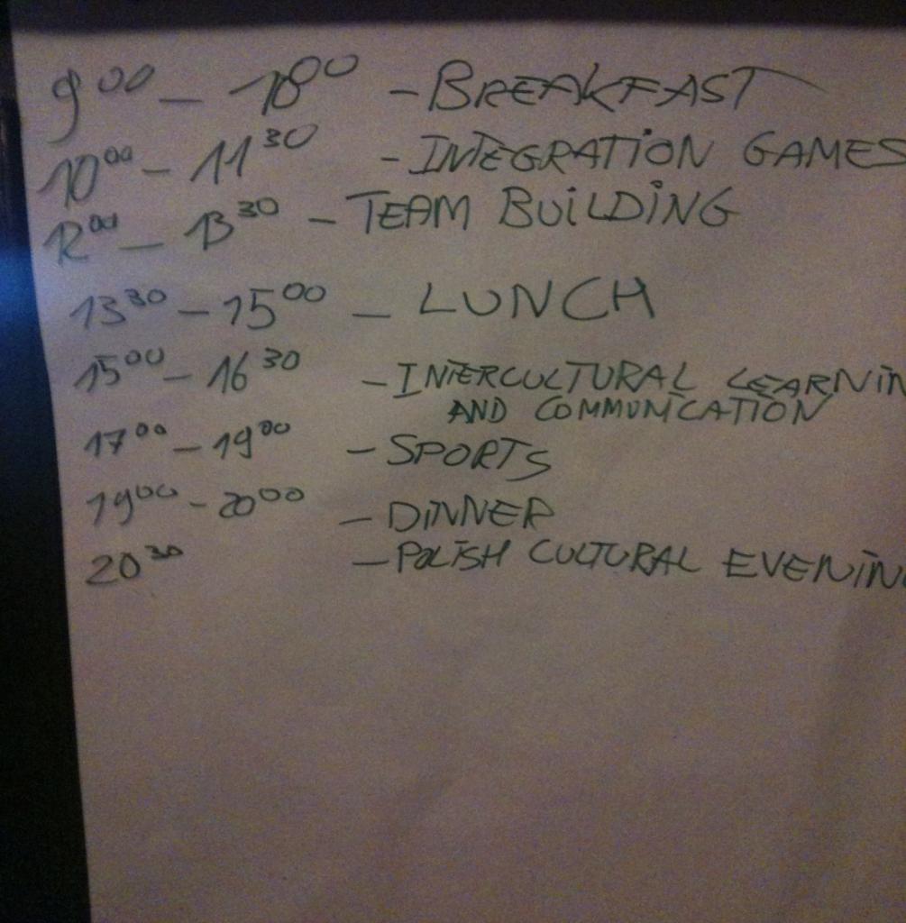 Mūsų dienos tvarkaraštis